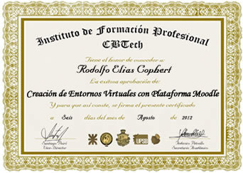 Certificado - Experto en E-Learning